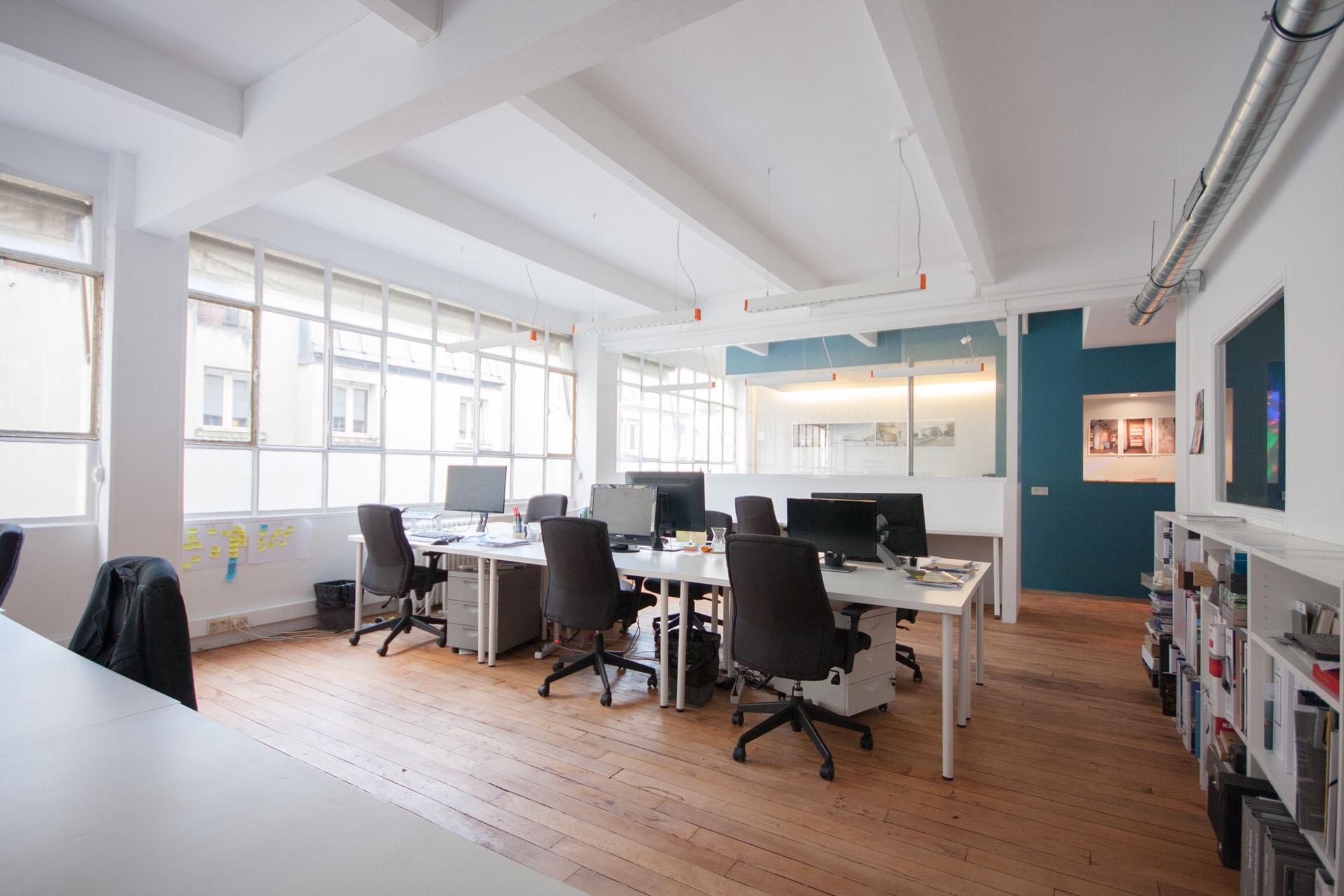 espace coworking satellite architectes. Black Bedroom Furniture Sets. Home Design Ideas